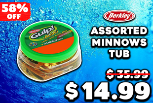 Berkley Gulp Alive Assorted Minnows Soft Bait Tub 10cm
