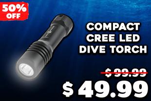 AquaMonde Compact Cree LED Dive Torch 630 Lumens