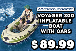Hydro-Force Voyager 300 Inflatable Boat with Oars 2.4m